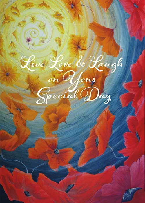 Live, Love and Laugh Nature Birthday Card