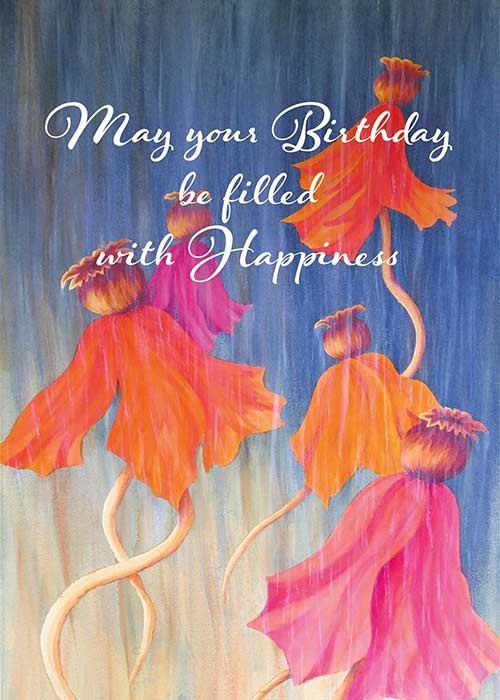 Filled with Happiness Nature Birthday Card