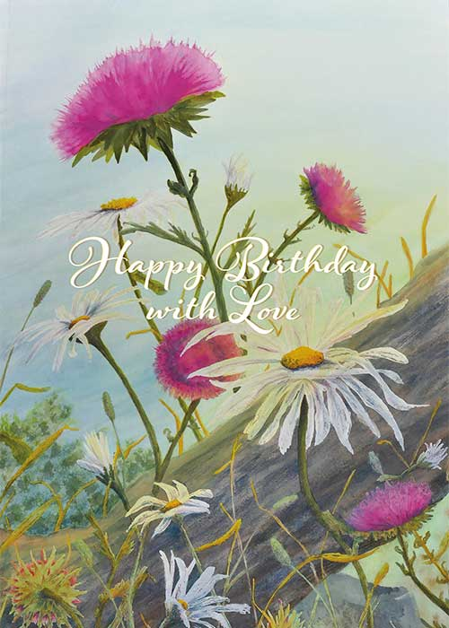 happy birthday with love nature card  st thomas greetings