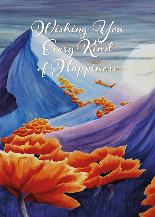 Wishing you Happiness Nature Birthday Card