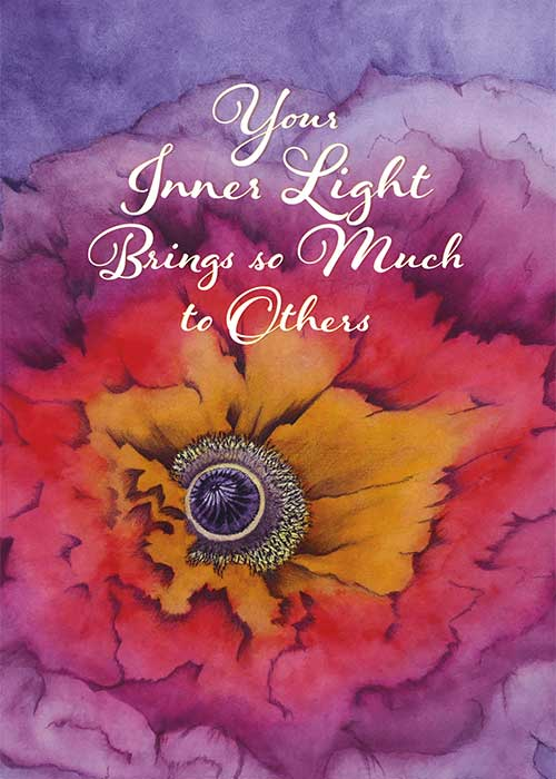 Inner Light Nature Birthday Card