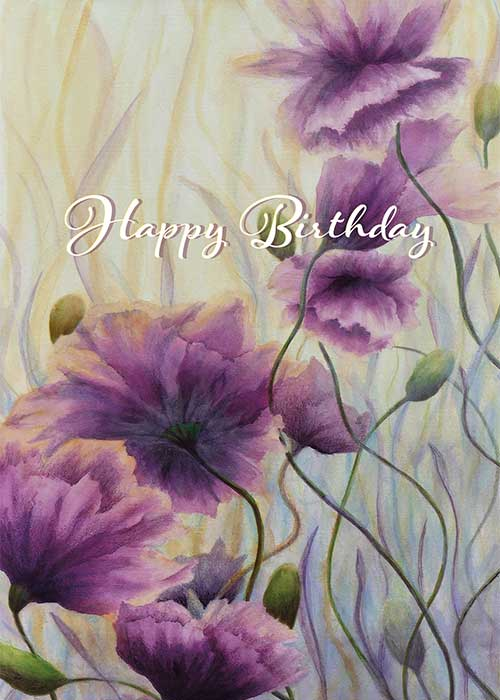 Happy Birthday Floral Nature Birthday Card