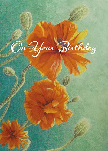 On Your Birthday Floral Birthday Card