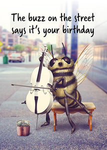 Funny Bee Birthday Card