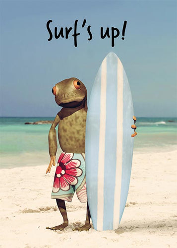 Surf's Up Funny Birthday Card