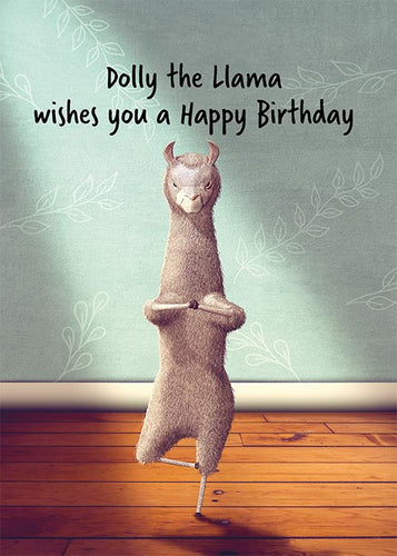 Dolly the Llama Funny Birthday Card