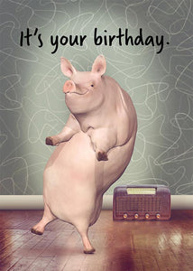 Funny Pig Birthday Card
