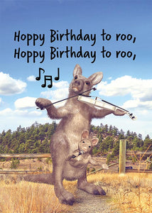 Funny Kangaroo Birthday Card