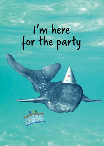 Funny Whale Birthday Card