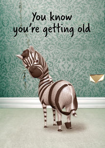 Funny Zebra Birthday Card