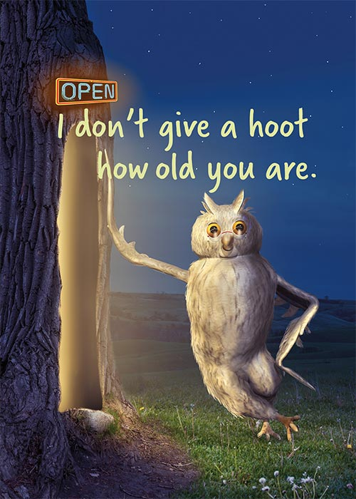 Funny Owl Birthday Card