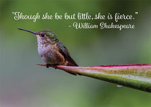 Little but Fierce Hummingbird Motivational Birthday Card