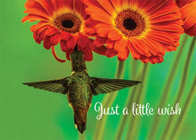 Little Wish Hummingbird Motivational Birthday Card