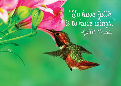 To Have Faith Hummingbird Birthday Card