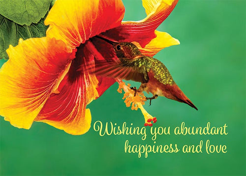 Wishing You Abundant Happiness Floral Nature Birthday Card