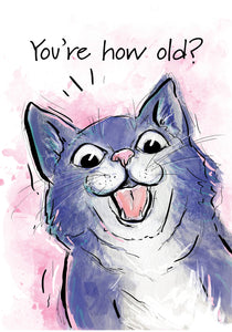 How Old? Cat Birthday Card