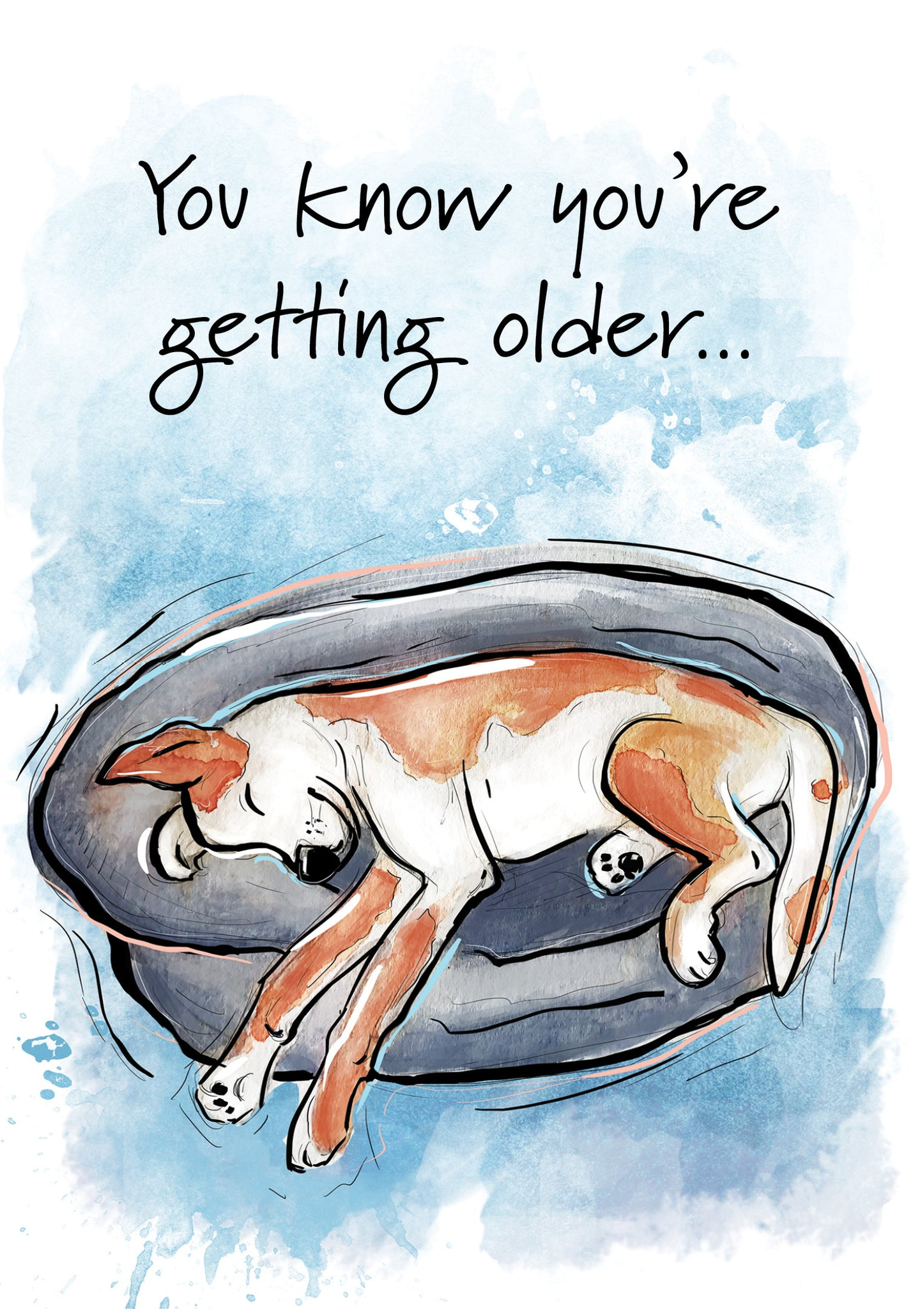 You're a Little Older Dog Birthday Card