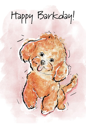 Happy Barkday! Dog Birthday Card