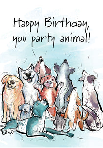 Party Animal Dog Birthday Card