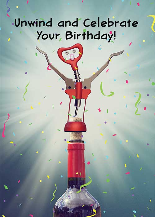 Unwind and Celebrate Your Birthday! Card