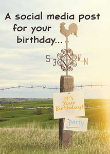 A Social Media Post for your Birthday... Birthday Card