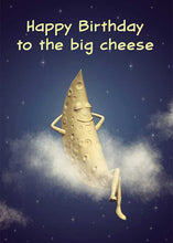 Happy Birthday to the Big Cheese Moon Birthday Card