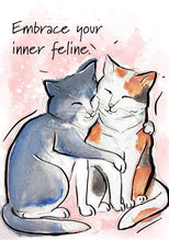 Embrace Your Inner Feline Cat Blank Card