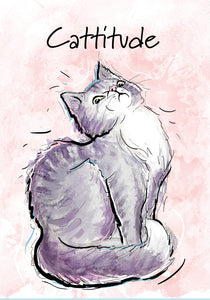 Cattitude Cat Blank Card