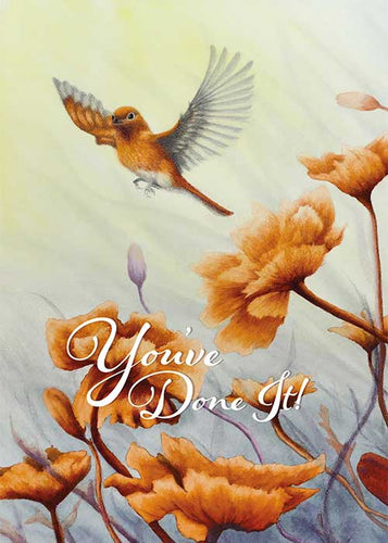 You've Done It Hummingbird Congratulations Card
