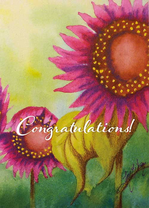Sunflower Nature Congratulations Card