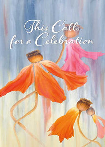 Call for Celebration Floral Nature Congratulations Card