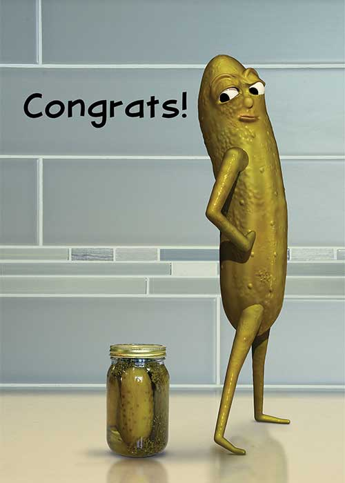 Congrats! Pickle Congratulations Card