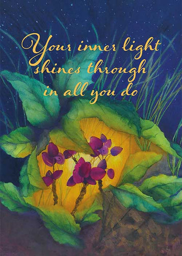Your Inner Light Floral Nature Friendship Card