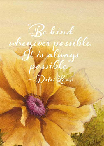 Be Kind Floral Nature Friendship Card