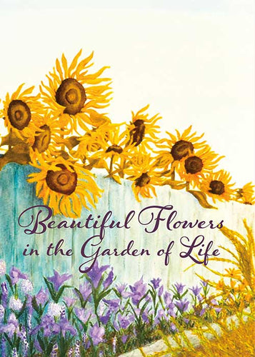 Garden of Life Floral Nature Friendship Card
