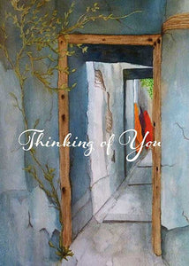 Thinking of You Door Friendship Card
