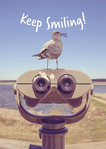 Keep Smiling! Funny Bird Friendship Card