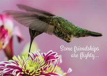 Some Friendships are Flighty Hummingbird Friendship Card