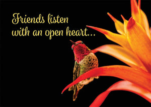 Friends Listen Hummingbird Friendship Card