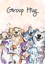 Group Hug Dog Friendship Card