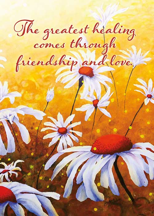 The Greatest Healing Floral Nature Get Well Card
