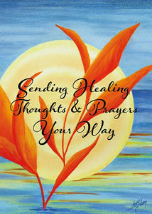 Sending Healing Thoughts Floral Nature Get Well Card