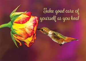 Take Good Care of Yourself Hummingbird Get Well Card