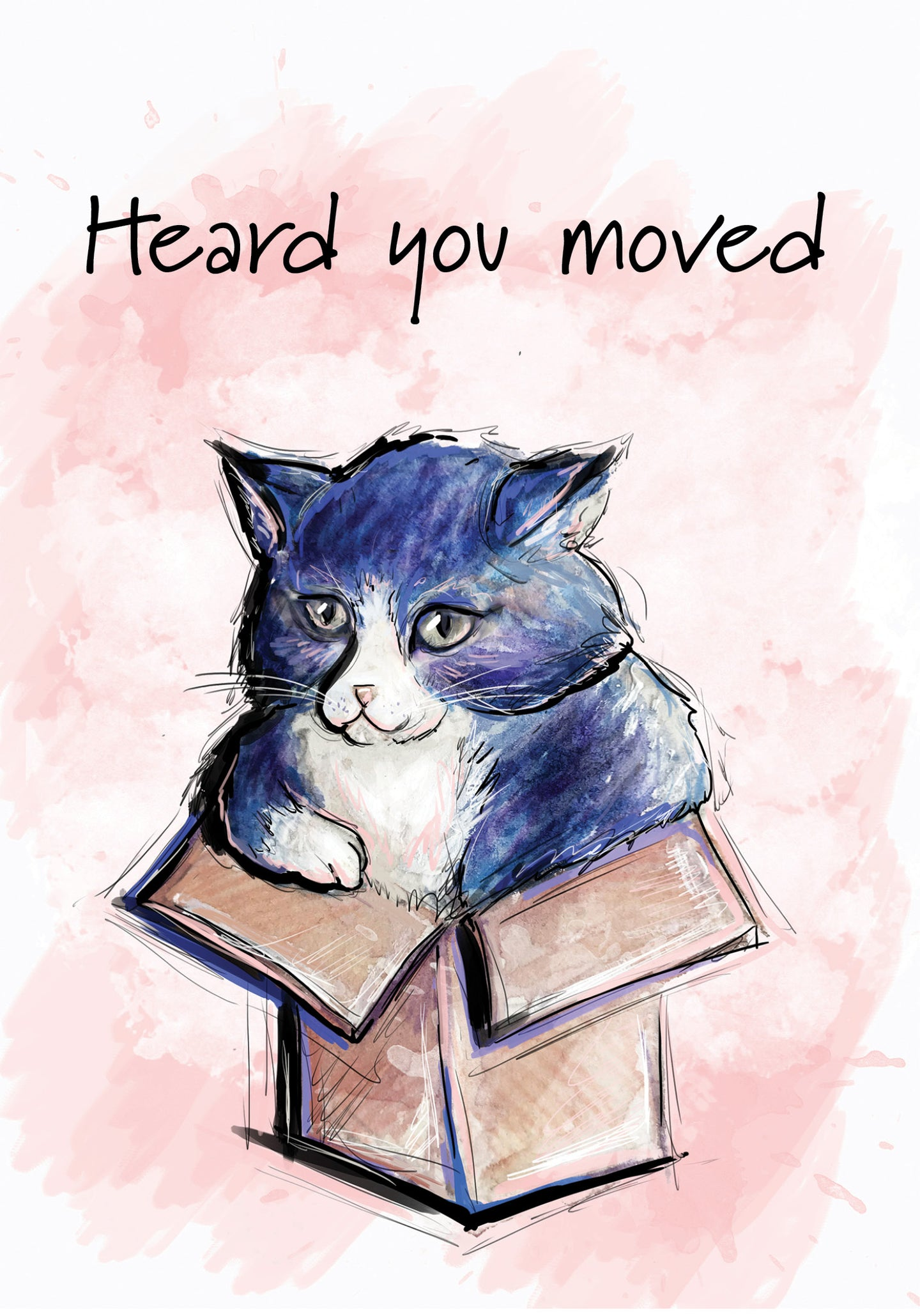 Heard You Moved - Cat New Home Card