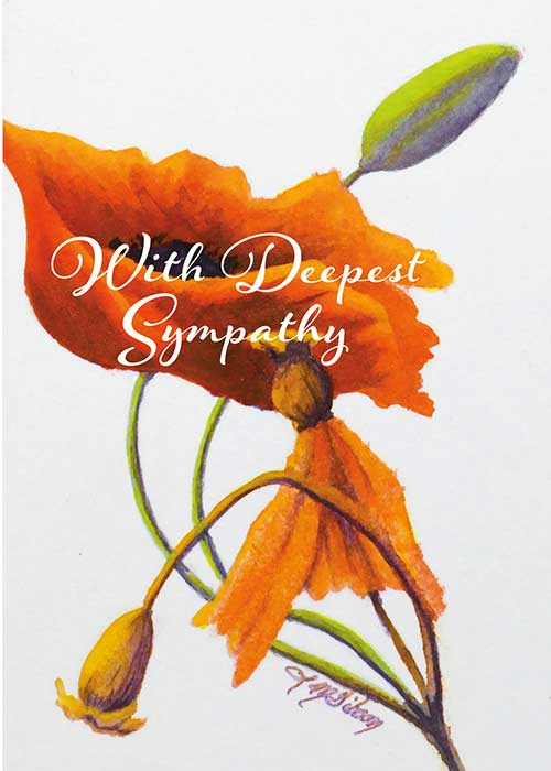 With Deepest Sympathy Floral Nature Sympathy Card