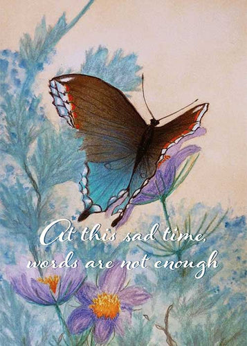 At this Sad Time Butterfly Nature Sympathy Card