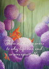 There are No Answers Floral Nature Sympathy Card
