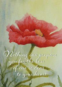 Loss of a Dear One Floral Nature Sympathy Card