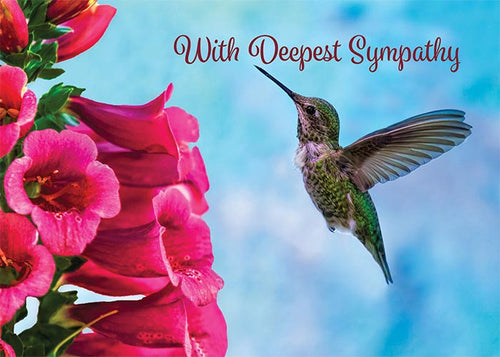 With Deepest Sympathy Hummingbird Sympathy Card