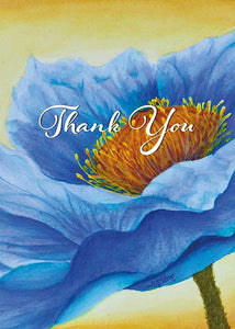 Blue Flower Nature Thank You Card
